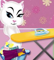 Angela Ironing Clothes