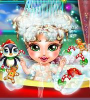 Baby Christmas Bath