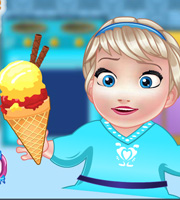 Baby Elsa Cooking Homemade Ice Cream