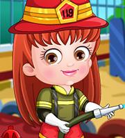 Baby Hazel Firefighter Dressup