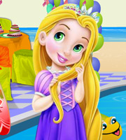 Baby Rapunzel Pool Party