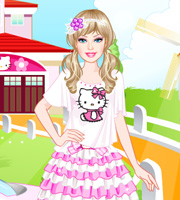 Barbie Kitty Princess Dress Up