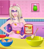 Barbie Superhero Cooking Mini Cheesecakes