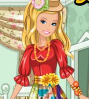 Barbie's Patchwork Peasant Dress
