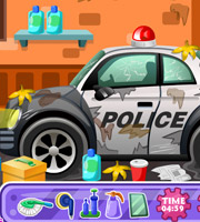 Clean up Police Car