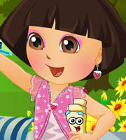 Dora In Flower Garden Dress Up
