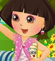 Dora In Flower Garden Dress Up