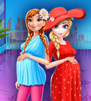 Elsa and Anna Pregnant Mall Shopping