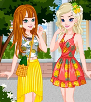 Elsa And Anna Summer Matching Outfits