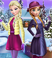 Elsa And Anna Winter Dress Up 2