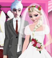 Elsa and Jack Wedding Dress up