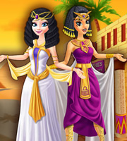 Elsa and Jasmine Shopping in Egypt