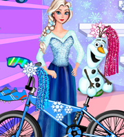 Elsa And Olaf Bike Decor
