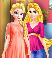 Elsa and Rapunzel Share a Closet