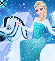 Elsa Goes Horseback Riding