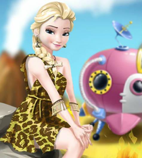 Elsa Time Travel Prehistoric Age