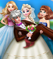 Elsa Wedding Photo Dress Up