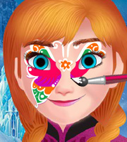 Frozen Anna Face Painting 2