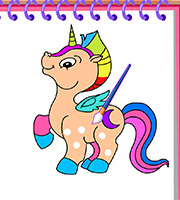 Horse and Unicorn Coloring Book