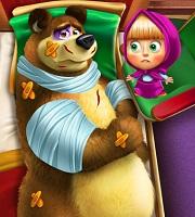 Masha and the Bear Injured