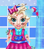 Messy Baby Elsa