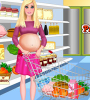 Pregnant Barbie Food Shopping