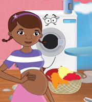Pregnant Doc McStuffins Ironing Clothes