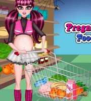 Pregnant Draculaura Food Shopping