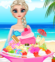 Pregnant Elsa Ice Cream Decor