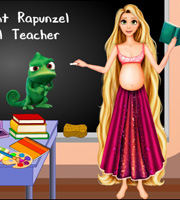 Pregnant Rapunzel School Teacher
