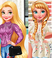 Princesses Getting Cozy: Chunky Knits