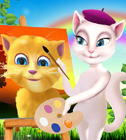 Talking Angela Painting Talking Ginger