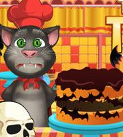 talking tom cooking halloween cake - Halloween Cake Games