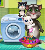 Tom Family Washing Clothes 2